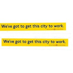 LT9765 L.T. Side Ads: We've got to get this city to work (Red yellow & black) two identical ads 1980/90s
