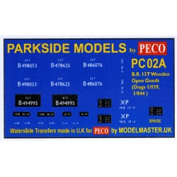 MMPC02A Transfers for B.R. 13T Wooden Open Goods Wagon