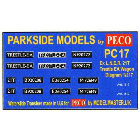 MMPC17 Transfers for ex L.N.E.R. 21T Trestle Wagon