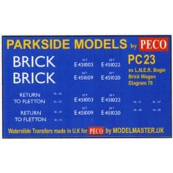 MMPC23 Transfers for ex L.N.E.R. Bogie Brick Wagon