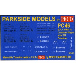 MMPC46 Transfers for B.R. Container Wagon 'Conflat A' and FM Container