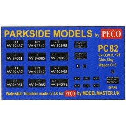 MMPC82 Transfers for ex G.W.R. China Clay Open Wagon