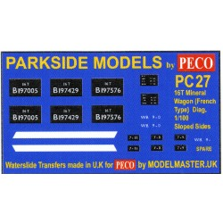 MMPC27 Transfers for B.R. 16T Mineral Wagon (Sloped Sides)
