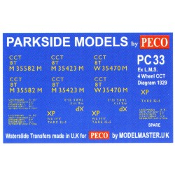 MMPC33 Transfers for ex L.M.S. 4 Wheeled C.C.T.