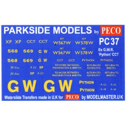 MMPC37 Transfers for ex G.W.R. 'Python' Covered Carriage Truck