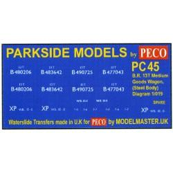 MMPC45 Transfers for B.R. 13T Medium Goods Wagon, Steel Body