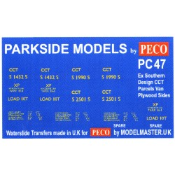 MMPC47 Transfers for ex S.R. 'CCT' Parcels Van, Plywood Sides