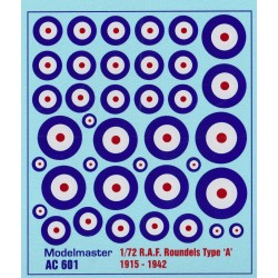 AC601 R.A.F. ROUNDELS WWII Type 'A' 1915-1942