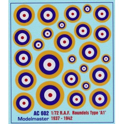 AC602 R.A.F. ROUNDELS WWII Type 'A1' 1937-1942