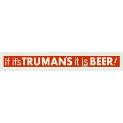 ADV07 4mm Scale Bus Side Advert : TRUMANS BEER