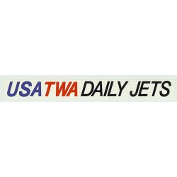 ADV08 4mm Scale Bus Side Advert : USA TWA DAILY JETS