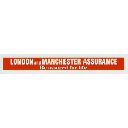 ADV12 4mm Scale Bus Side Advert : LONDON AND MANCHESTER ASSURANCE