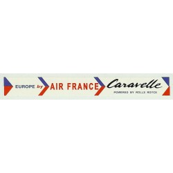 ADV13 4mm Scale Bus Side Advert : AIR FRANCE - CARAVELLE