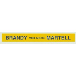 ADV15 4mm Scale Bus Side Advert : MARTELL BRANDY