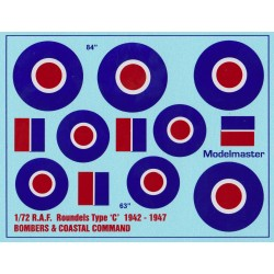 AC608 R.A.F. ROUNDELS WWII Type 'C' 1942-1947
