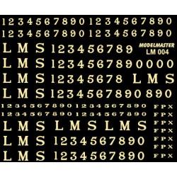 """LM004 L.M.S. Serif Loco Lettering & Numbering, 10"""", 12"""" & 14"""" CREAM"""