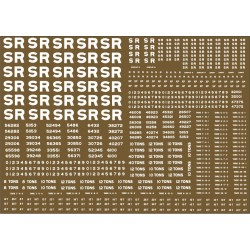 4MSR301 Southern Railway. wagon lettering and numbers. 100 new sheets due APRIL 2020
