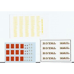 MM4400 Lettering & Numbering for Pre-1964 Livery Royal Mail Travelling Post Offices.