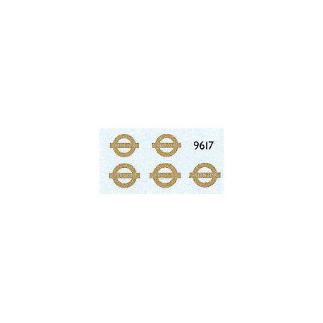 LT9617 'GREEN LINE' Bar & Circle (Gold) for upper sides of double deckers.