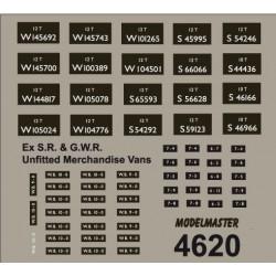 MM4620 Ex S.R. & G.W.R. Merchandise Vans, unfitted.