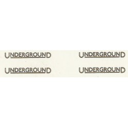 LT9812 'UNDERGROUND' Fleet names gold with black outline Four Pairs