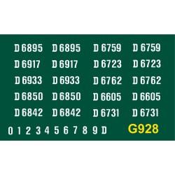 G928 E.E. Type 3 Co-Co, D6700 series, WHITE