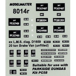 MM8014 Parkside PC58 ex L.M.S. 20T Goods Brake Van