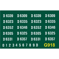 G918 N.B DH Type 1, Bo-Bo, D6300 series, WHITE