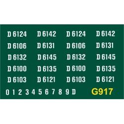 G917 N.B DE Type 1, Bo-Bo, D6100 series, WHITE