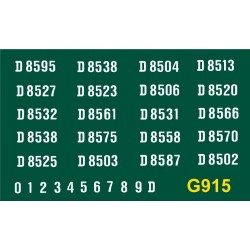 G915 Clayton Type 1, Bo-Bo, D8500 series, WHITE