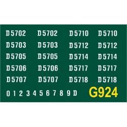 G924 Metrovick Co-Bo, D5700 series, WHITE