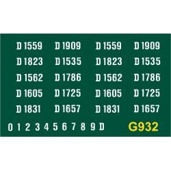 G932 Brush Co-Co Type 4, D1500 series, WHITE