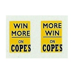 MB5741 Upper Front Ads: More win on Copes (Black & yellow) 1960s
