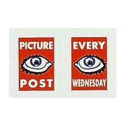 MB5744 Upper Front Ads: Picture Post every Wednesday (Red, black & white) 1940/50s