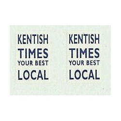 MB5753 Upper Front Ads: Kentish Times (Blue & white) 1960/70s