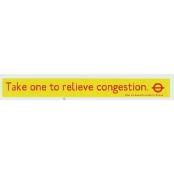 LT9766 L.T. Side Ads: Take one to relieve congestion (Red & yellow) 1980/90s
