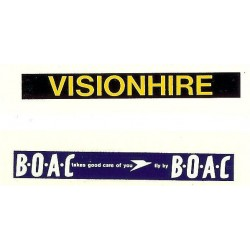 MB5641 Side Ads: B.O.A.C. & Visionhire 1960s