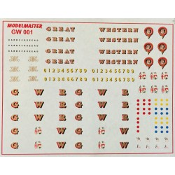 GW001 G.W.R. 1889 - 1948 Loco Lettering, Badges, Crests, Buffer Beam Numbers, etc,.