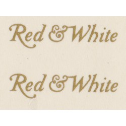 MB6033 RED & WHITE gold script
