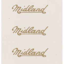 MB5428 W. ALEXANDER MIDLAND 3 x fleetnames gold script