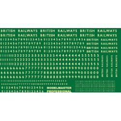 MM7041 Six pairs of B.R. 1948-1956 Loco Emblems