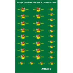 NTG402 6 Pairs each of SMALL and LARGE 1956 - 1968 Loco Crests