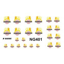 NTG401 12 Pairs (4 each SMALL, MEDIUM & LARGE) 1948 - 1956 Loco Emblems.
