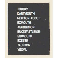 D67 TORBAY DARTMOUTH TAUNTON ASHBURTON NEWTON ABBOT YEOVIL BUCKFASTLEIGH EXMOUTH SIDMOUTH EXETER