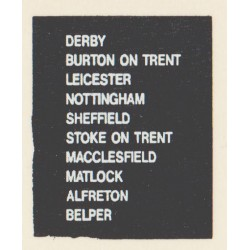 D68 BURTON ON TRENT DERBY LEICESTER ALFRETON MACCLESFIELD MATLOCK NOTTINGHAM SHEFFIELD STOKE ON TRENT BELPER