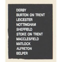 D68 BURTON ON TRENT DERBY LEICESTER ALFRETON MACCLESFIELD MATLOCK NOTTINGHAM SHEFFIELD STOKE ON TRENT BELPER
