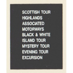 D77 SCOTTISH TOUR BLACK & WHITE ASSOCIATED MOTORWAYS HIGHLANDS EXCURSION MYSTERY TOUR EVENING TOUR