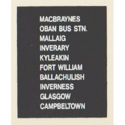 D78 OBAN BUS STATION MACBRAYNES MALLAIG INVERARY KYLEAKIN FORT WILLIAM GLASGOW INVERNESS CAMPBELTOWN BALLACHULISH