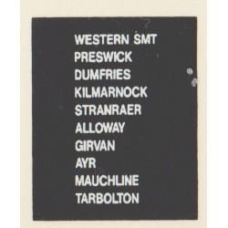 D79 WESTERN SMT PRESTWICK DUMFRIES KILMARNOCK STRANRAER ALLOWAY MAUCHLINE GIRVAN AYR TARBOLTON