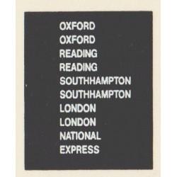 D81 2 x OXFORD 2 x LONDON 2 x SOUTHAMPTON 2 x READING NATIONAL EXPRESS